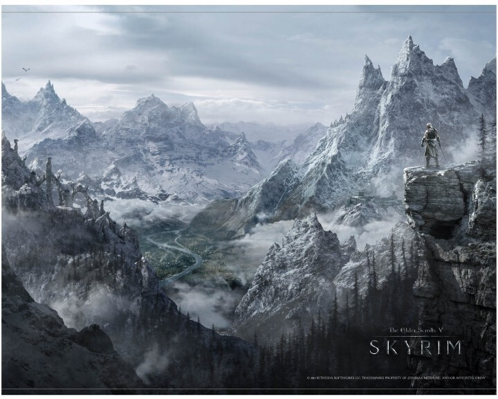 Wallscroll The Elder Scrolls V: Skyrim - Valley
