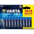 VARTA baterie Longlife Power AA, 14+6ks