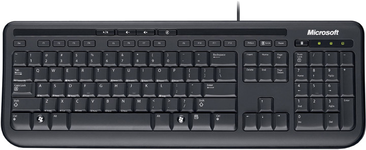 Microsoft Wired Keyboard 600, USB, CZ