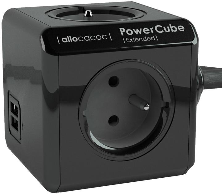 PowerCube Extended USB 3m, černá