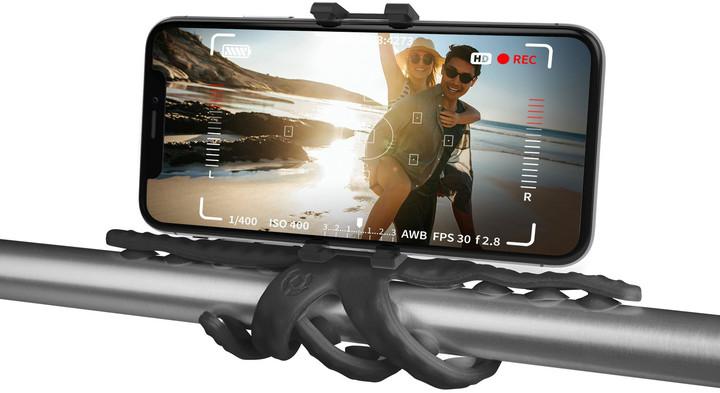 """CELLY flexibilní držák s přísavkami Squiddy pro telefony do 6,2"""", černý"""