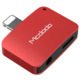 Mcdodo Lightning To Lightning and DC 3.5mm (5V, 1A) Red