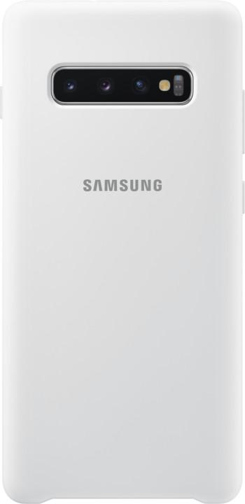 Samsung silikonový zadní kryt pro Samsung G975 Galaxy S10+, bílá
