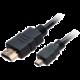 Akasa kabel HDMI/micro HDMI 4K@60Hz, pozlacené konektory, 1.5m, černá