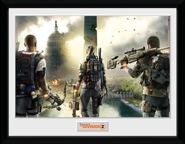 Zarámovaný plakát The Division 2 - Landscape