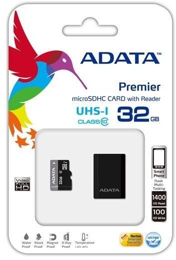 ADATA Micro SDHC Premier 32GB UHS-I + USB čtečka