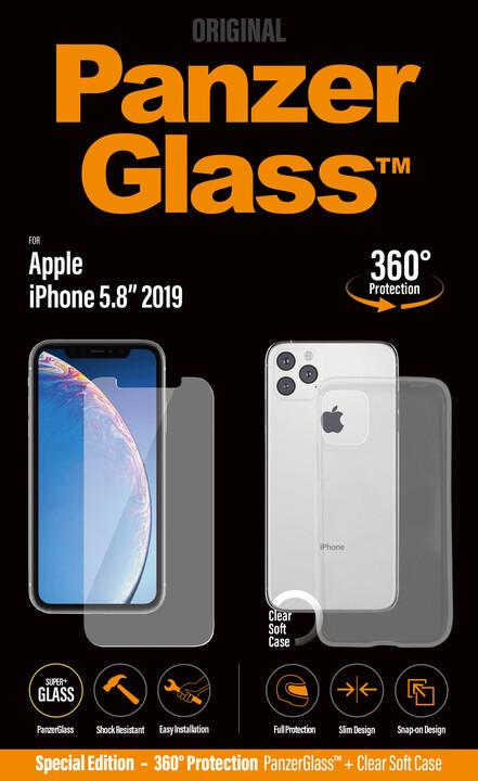 PanzerGlass Standard Bundle pro Apple iPhone 11 Pro, čiré + pouzdro