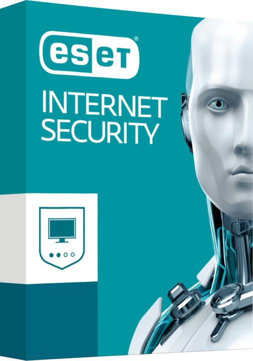 ESET Internet Security pro 2 PC na 1 rok, prodloužení licence