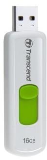 Transcend JetFlash 530 16GB, bílo/zelený