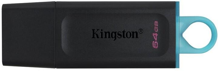 Kingston DataTraveler Exodia - 64GB, černá/modrá