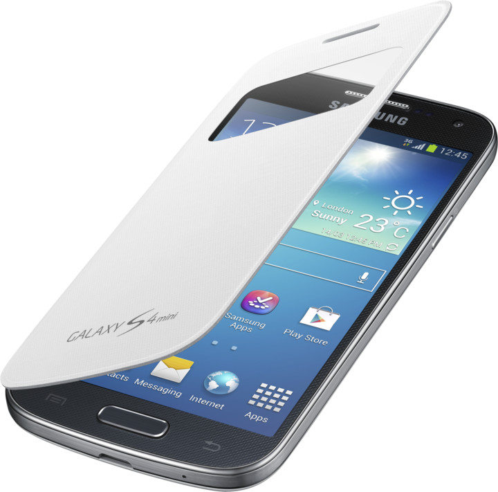 Samsung flipové pouzdro S-view EF-CI919BW pro Galaxy S4 mini, bílá