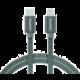 SWISSTEN textilní datový kabel USB-C - Lightning, 1,2m šedý