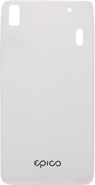 EPICO pružný plastový kryt pro Lenovo A7000 RONNY GLOSS - čirá bílá