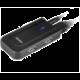 Akasa USB hub Bullet, 4 port, USB3.0, s adaptérem, černá