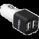 LAMAX USB Car Charger 3.4A - USB nabíječka do auta (2x USB) - černá/bílá