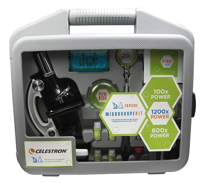 Celestron mikroskop 28 dílný set v plastovém kufříku