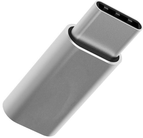 MEIZU adaptér MicroUSB to Type-C, stříbrná