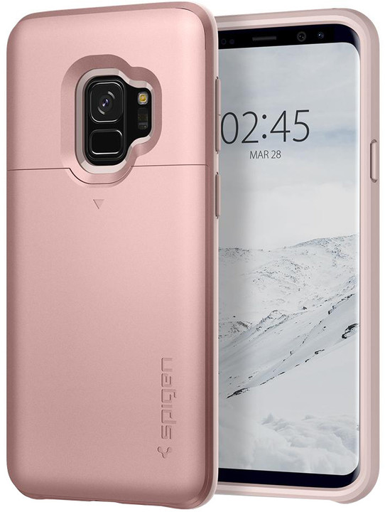 Spigen Slim Armor CS pro Samsung Galaxy S9, rose gold