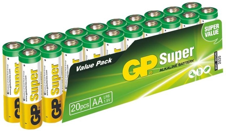 GP, alkalická, AA 20ks