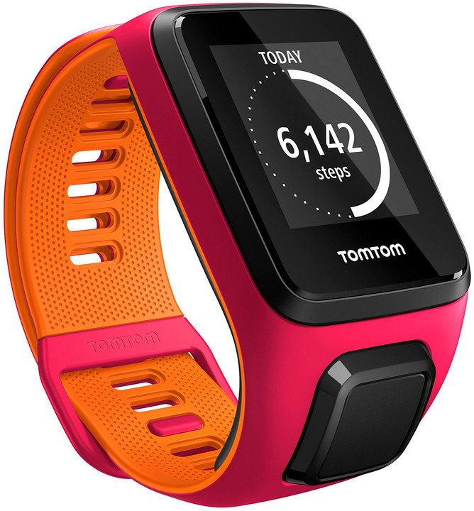 TOMTOM Runner 3 (S), růžová/oranžová