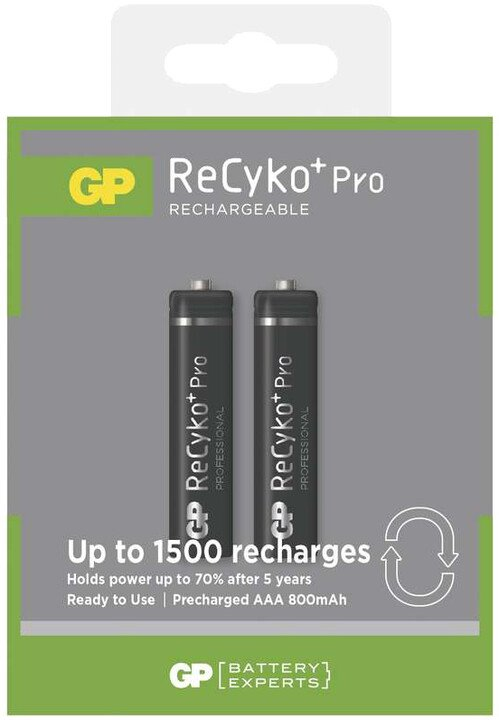 GP Recyko+ AAA Ni-MH 800mAh, 2ks