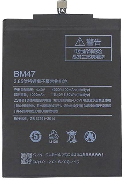 Xiaomi BM47 baterie 4000mAh pro Xiaomi Redmi 3/3S/4X/3 Pro (Bulk)