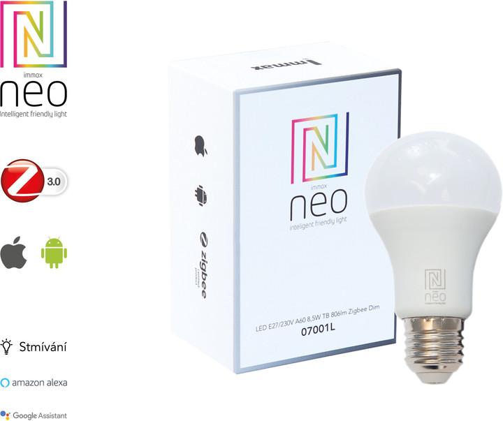 IMMAX Neo LED, E27, 806lm, 8,5W, Zigbee, Dim