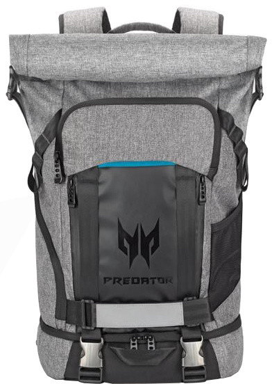 "Acer PREDATOR Gaming rolltop backpack 15,6"" GRAY BLUE"