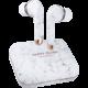 Happy Plugs Air 1 Plus In-Ear, bílý mramor