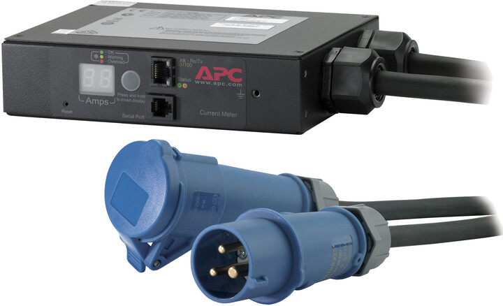 APC In-Line Current Meter, 16A, 230V, IEC309-16A, 2P+G