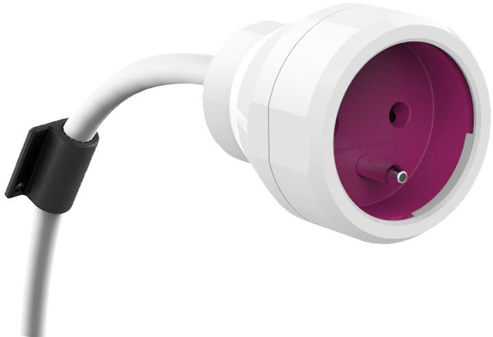 PowerCube EXTENSION prodlužovací přívod 5m - 1 zásuvka, růžová