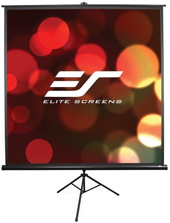 """Elite Screens plátno mobilní trojnožka 85"""" (215,9 cm)/ 1:1/ 152,4 x 152,4cm/ case černý"""