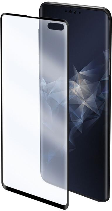 CELLY prémiová ochranná fólie displeje Nano Film pro Samsung Galaxy S10+, černá