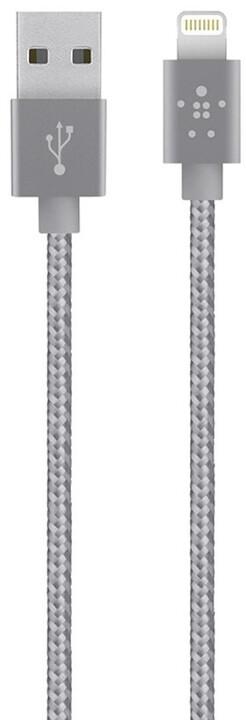 Belkin Synchronizační Premium Lightning kabel 1.2m, stříbrná