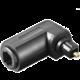 PremiumCord TOS optická redukce zahnutá 90° TOS(M) - TOS(F)