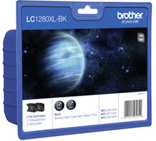 Brother LC-1280XLBKBP2 - inkoust, multipack 2x černý