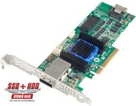 ADAPTEC RAID 6445 Single SAS 2/ SATA 2, PCI Express x8, 8 portů (4x int., 4x ext.)