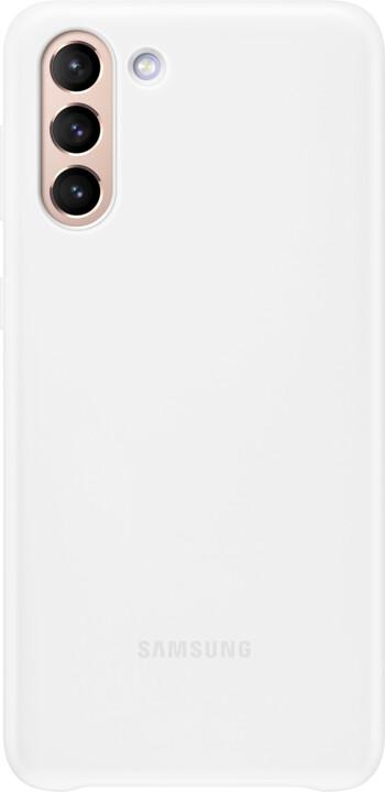 Samsung ochranný kryt s LED pro Samsung Galaxy S21+, bílá