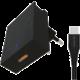 SWISSTEN síťový adaptér s technologií Super Fast Charging, 25W, černá + USB-C, M/M, 1.2m, černá
