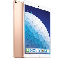 Apple iPad Air, 64GB, Wi-Fi + Cellular, zlatá, 2019 - MV0F2FD/A