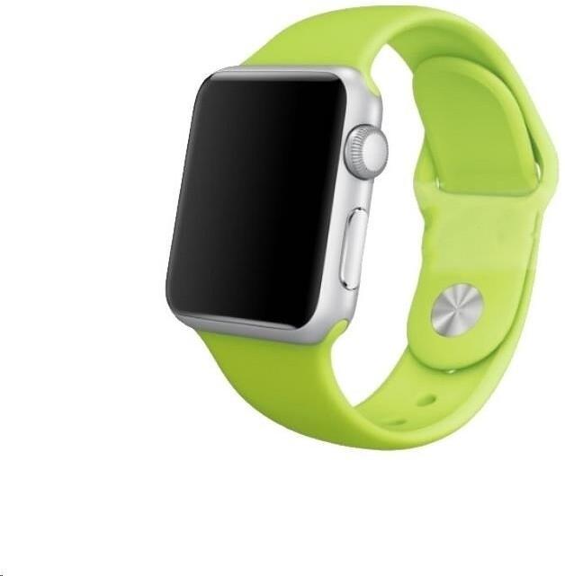 COTEetCI silikonový řemínek pro Apple Watch, 42/44mm, světle zelená