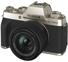 Fujifilm X-T200 + XC15-45mm, zlatá - 16646430
