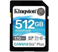 Kingston SDXC Canvas Go! Plus 512GB 170MB/s UHS-I U3 - SDG3/512GB