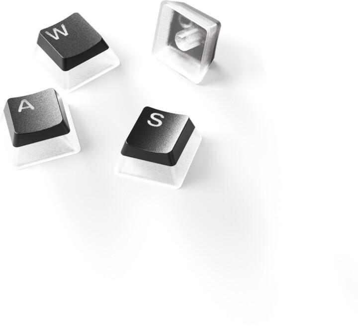 SteelSeries vyměnitelné klávesy PrismCaps, PBT, 120 kláves, černé, US