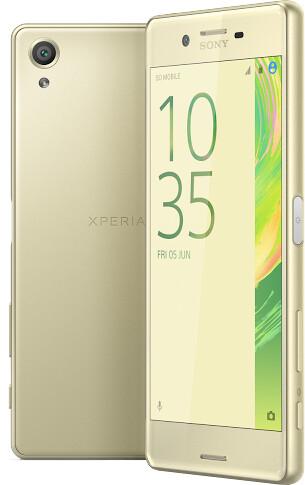 Sony Xperia X, limetková zlatá