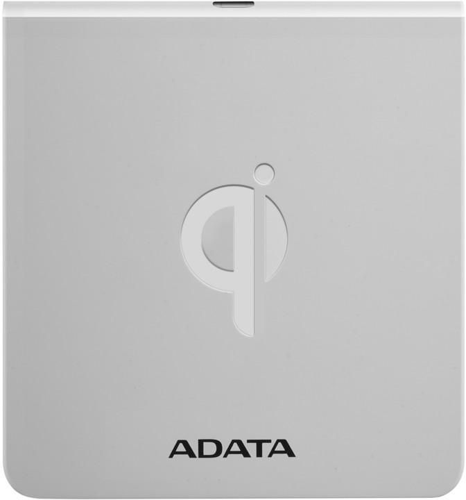 ADATA bezdrátová nabíjecí podložka s certifikací Qi, bílá