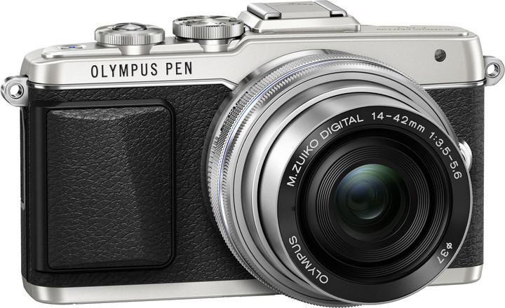 Olympus E-PL7 + 14-42 mm EZ, stříbrná