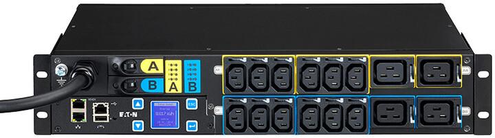 Eaton ePDU, řízenéIEC, 2U, In: IEC60309 32A 1P, Out: 12xC13:4xC19