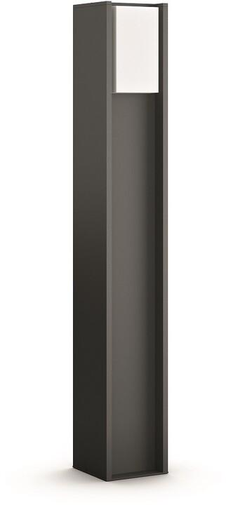 Philips venkovní sloupek Hue Turaco E27, LED, 9.5W, IP44, antracit