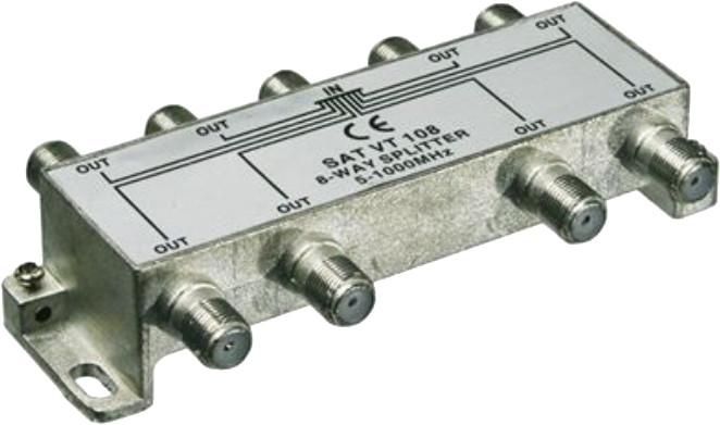 PremiumCord antenní rozbočovač na F konektory 1-8 výstupy 5-1000 MHz